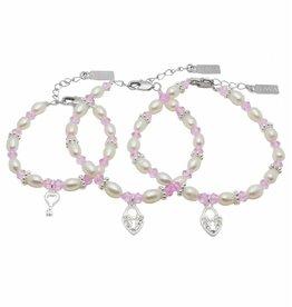 KAYA jewellery 3 Generations Bracelet 'Infinity Pink' Key - Heart
