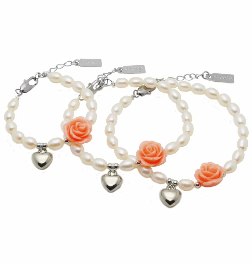 KAYA jewellery 3 Generations Bracelet 'Flower' with Heart