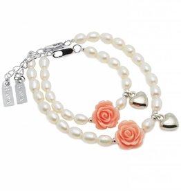 KAYA jewellery Mum & Me Bracelet 'Flower' with Heart