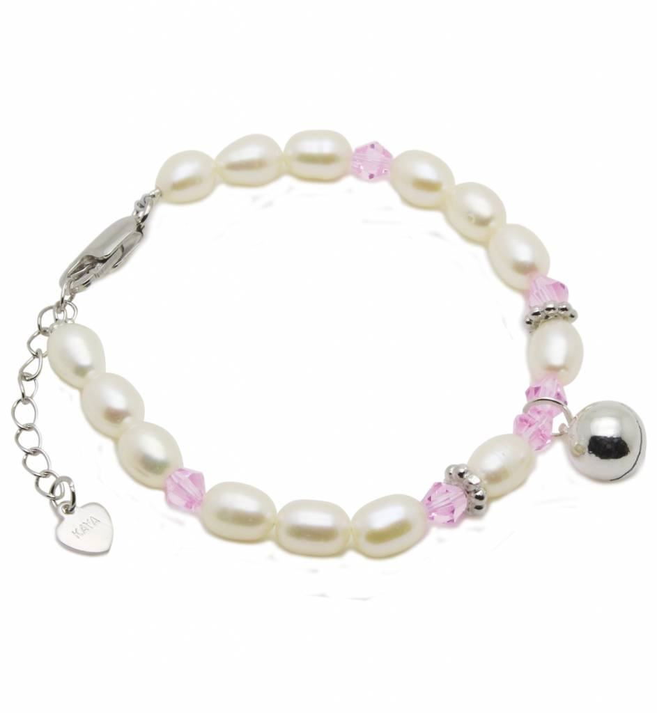 KAYA jewellery Silver Girls Bracelet 'Little Diva' with Lucky Bell Charm