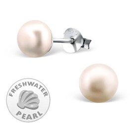 KAYA jewellery Silver Pink Pearl Earrings 7mm