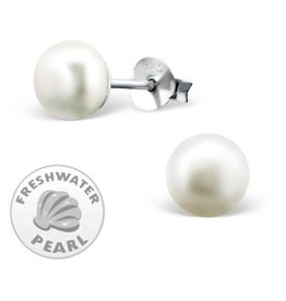 KAYA jewellery Silver White Pearl Earrings