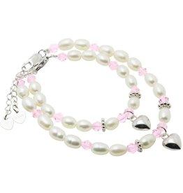 KAYA jewellery Silver Mum & Me Bracelets 'Little Diva' with Hearts