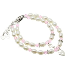 KAYA jewellery Silver Mum & Me Bracelets 'Little Diva' Key to my Heart