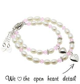 KAYA jewellery Silver Mum & Me Bracelets 'Little Diva' Heart