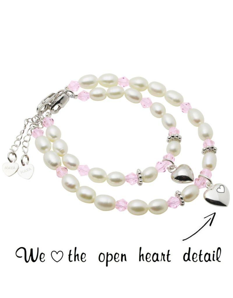 KAYA jewellery Silver Mum & Me Bracelets 'Little Diva' in my heart
