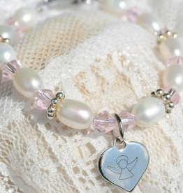 KAYA jewellery Christening - Communion Bracelet 'Infinity Pink' Little Angel