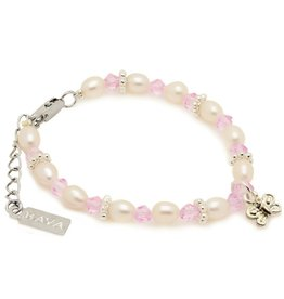 KAYA jewellery Girls Bracelet 'Infinity Pink' with Butterfly
