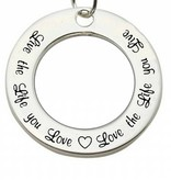 KAYA jewellery Sterling Silver Pendant 'Live the Life you Love...'