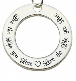 KAYA jewellery Silver Pendant 'Live the Life you Love...'