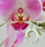 KAYA jewellery Silver Pendant 'Love you to the Moon...' with Crescent Moon