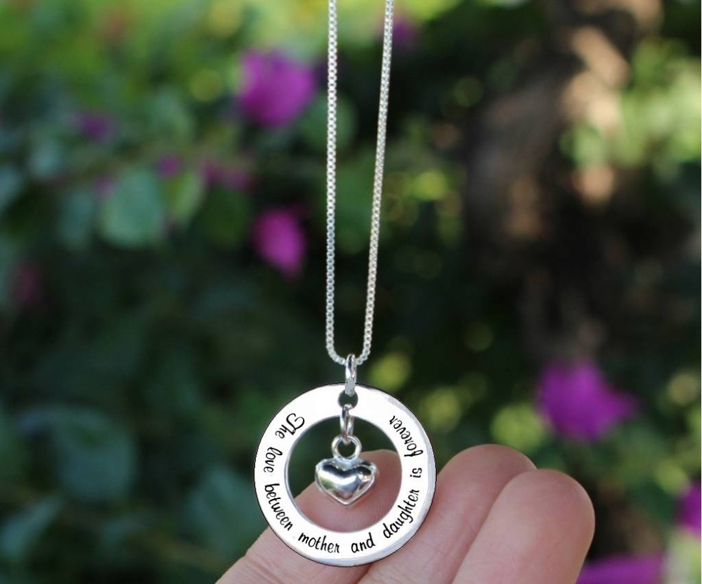 KAYA jewellery Silver Pendant 'The love between Mother & Daughter...'