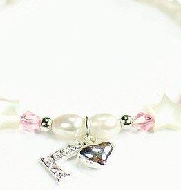 KAYA jewellery Silver Mum Bracelet 'Little Star' Initial & Heart Charm