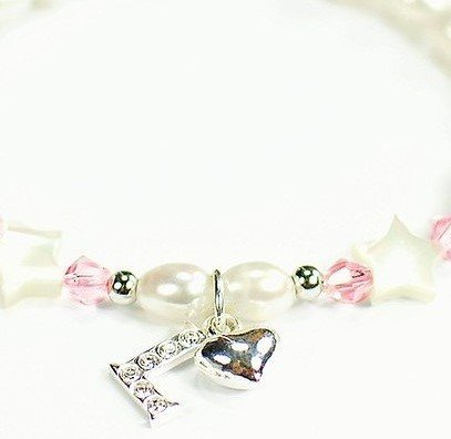 KAYA jewellery Silver Mum Bracelet 'Little Star' with Initial & Heart Charm