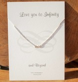 KAYA jewellery Jewellery Card 'Love you to Infinity and Beyond'