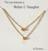 KAYA jewellery Jewellery Card mother & daughter 'Golden Heart'