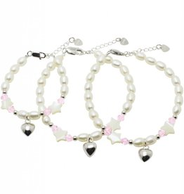 KAYA jewellery 3 Generations Silver Bracelets 'Little Star' with Heart