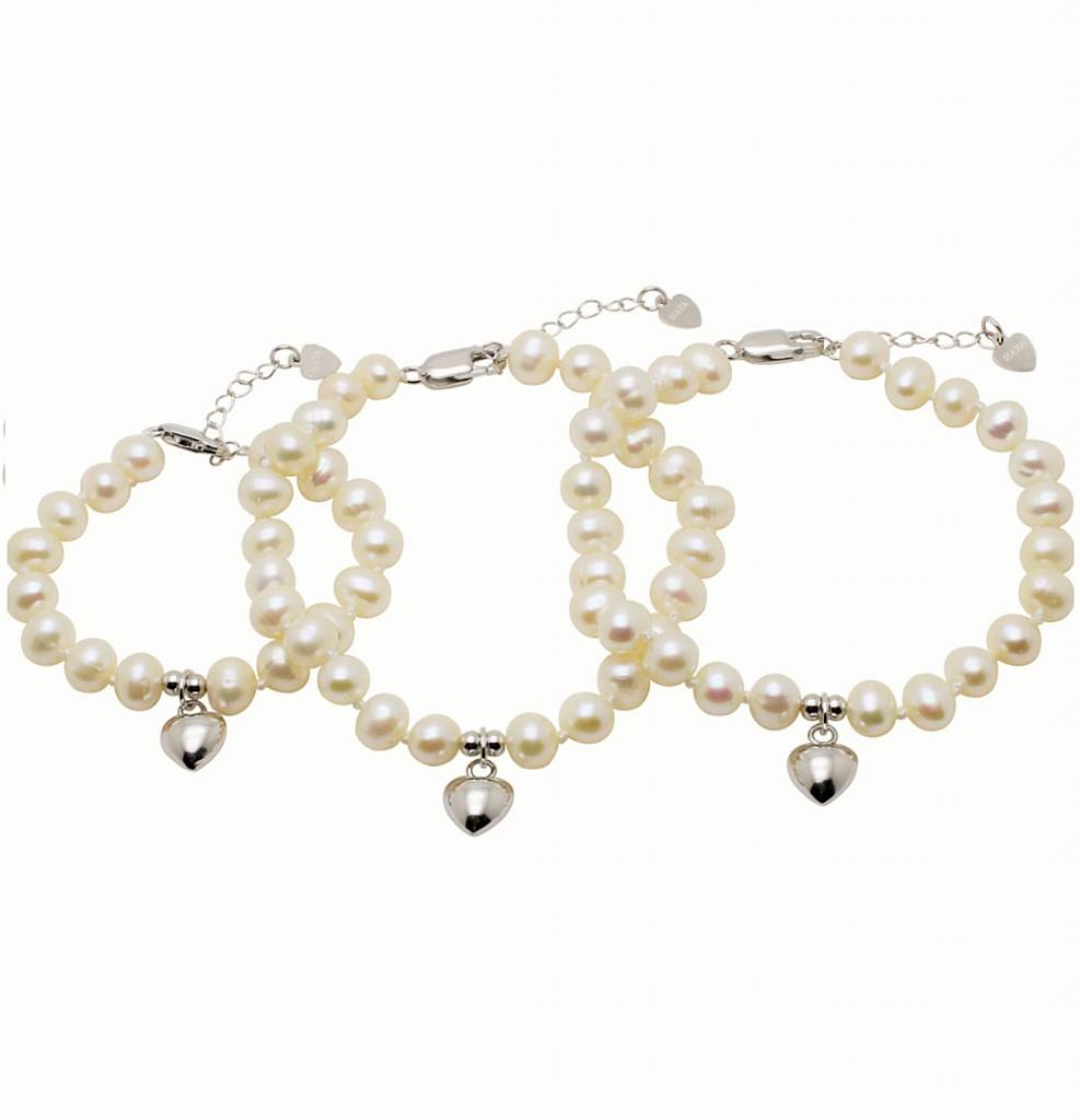 KAYA jewellery 3 Generations Silver Bracelet 'Pure' with Heart