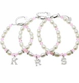 KAYA jewellery 3 Generations Silver Bracelet 'Little Diva' with Initial Charms
