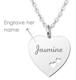 KAYA jewellery Silver Names4ever Engraved Name Necklace