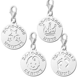 KAYA jewellery Names4ever Silver Names4ever Charm Name and Date