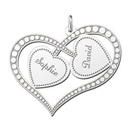 KAYA jewellery Silver Names4ever Engraved Mum Pendant 'Always in my Heart'