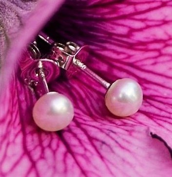 KAYA jewellery Silver 3 Generation Pearl Earrings Snowwhite