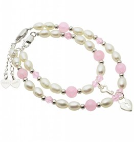 KAYA jewellery Mum & Me Bracelets 'Pink Bubbles' Key to my Heart