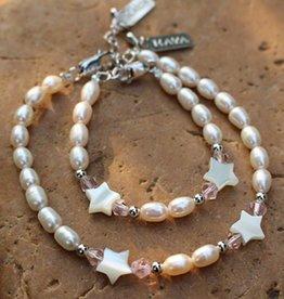 KAYA jewellery Mum & Me Silver Bracelets 'Little Star'