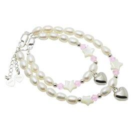 KAYA jewellery Mum & Me Silver Bracelets 'Little Star' with Heart
