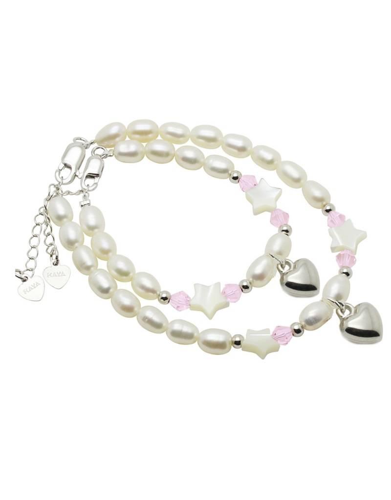 KAYA jewellery Mum & Me Silver Bracelet 'Little Star' with Heart