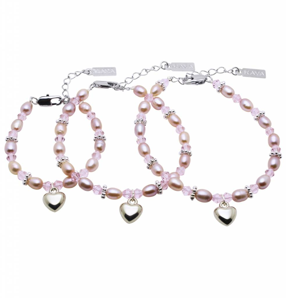 KAYA jewellery 3 Generations Bracelet 'Princess' with Heart Charm