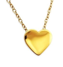 KAYA jewellery Silver Necklace 'Heart of Gold'