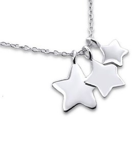 KAYA jewellery Silver Necklace '3 Stars'