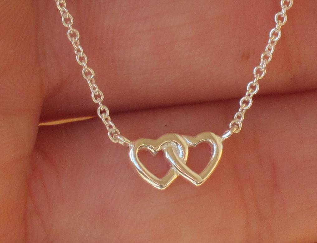 KAYA jewellery Silver Necklace 'Entwined Hearts'