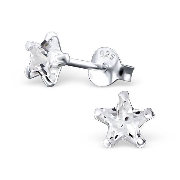 KAYA jewellery Sterling Silver Star Earrings