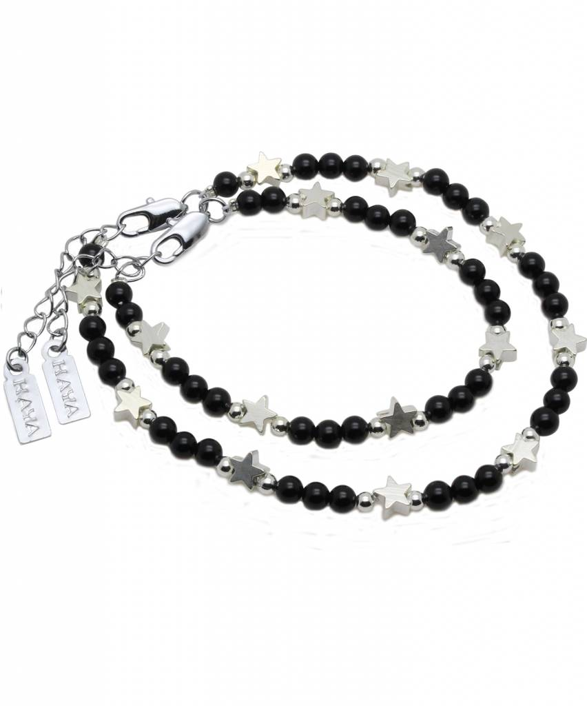 KAYA jewellery Mother & Son Bracelet 'Shine Bright' Black Onyx