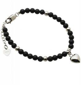 KAYA jewellery Silver Bracelet 'Black Onyx' with Heart
