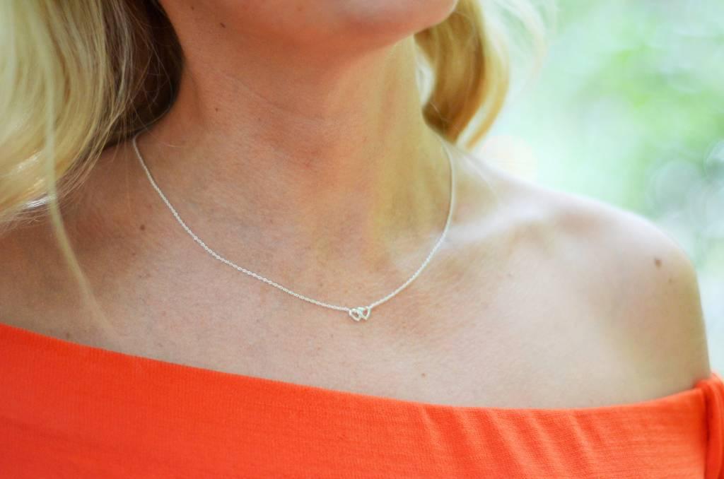 KAYA jewellery Jewellery Card 'One Big Friendship' double heart