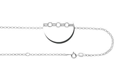 KAYA jewellery Personalised silver Pendant 'Triple Eternity'