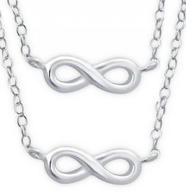 KAYA jewellery Silver Mum & Me Necklace 'Infinity'