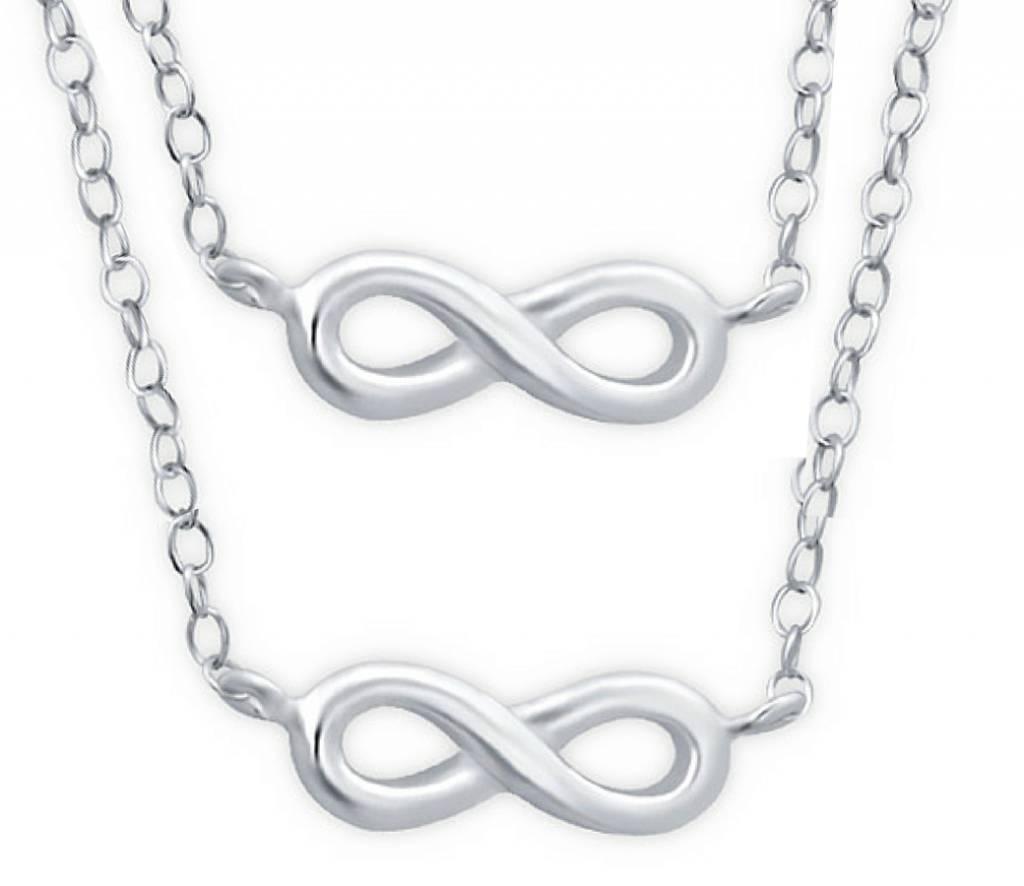 KAYA jewellery Silver Mum & Me Necklace 'Infinity'