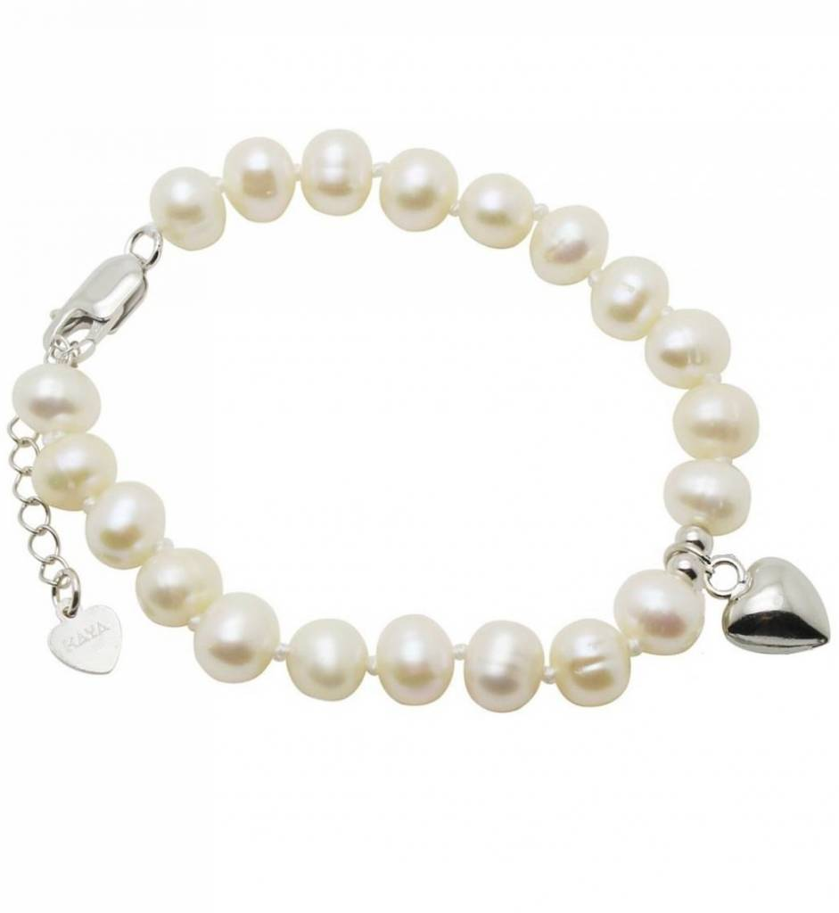 KAYA jewellery Silver Girl's Bracelet 'Pure' with Heart