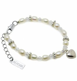 KAYA jewellery Girls Bracelet 'Infinity White' with Heart