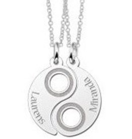 KAYA jewellery Names4ever Silver Yin Yang Friendship Necklace