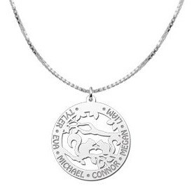 KAYA jewellery Silver Necklace with Engravement 'Squirrels'