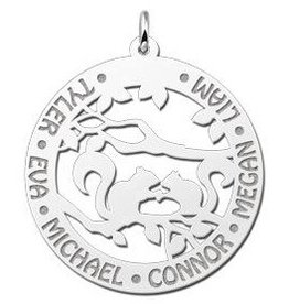 KAYA jewellery Names4ever Silver Necklace with Engravement 'Squirrels'
