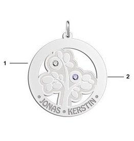 KAYA jewellery Names4ever Silver Pendant 'Tree of Life' with 2 Birth Stones