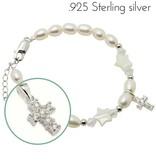 KAYA jewellery Silver Girls Bracelet 'Midnight Star' Crystal Cross