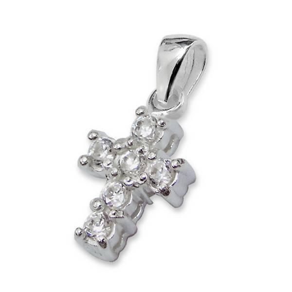 KAYA jewellery Silver Mum & Me Bracelets 'Precious' Crystal Cross